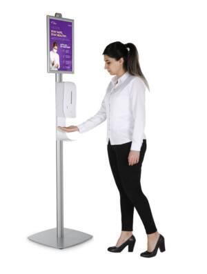 Автоматични безконтактни диспенсъри за дезинфектант на стойка